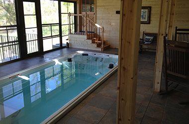 37 best swim spa sauna images on pinterest pool for Swim spa in garage