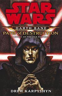 Star Wars: Darth Bane Trilogy by Drew Karpyshyn.  I was given this book by a friend for my son when he was  8.  I decided to read the first chapter to see if it was appropriate for him... I was hooked by the 4th page.  My first Star Wars book.  :)