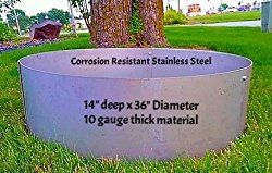 Stainless Steel Round Fire Pit Ring Liner- 36″OD x 14″ Deep