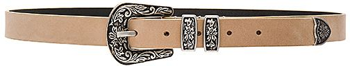 Lovers + Friends x REVOLVE Arizona Hip Belt in Beige. - size M (also in ) Lovers + Friends x REVOLVE Arizona Hip Belt in Beige. - size M (also in ) West Coast boyfriend inspired with a Mid-West twist. The Arizona Hip Belt is Lovers + Friends' take on a classic style. With an etched buckle finished in silver-hardware, this statement piece delivers endless options. Pair with jeans and a tee or belt your favorite dress for an on-trend feel.. Genuine leather belt. Buckle closure. Etched de..
