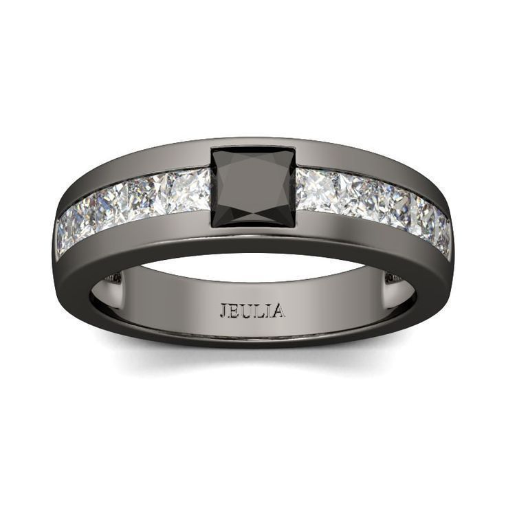 1000 ideas about black engagement rings on