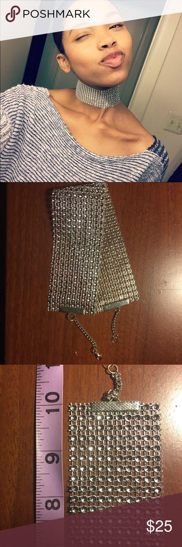 Diamond choker necklace Handmade diamond choker, great piece to spice up any outfit! Handmade Jewelry Necklaces