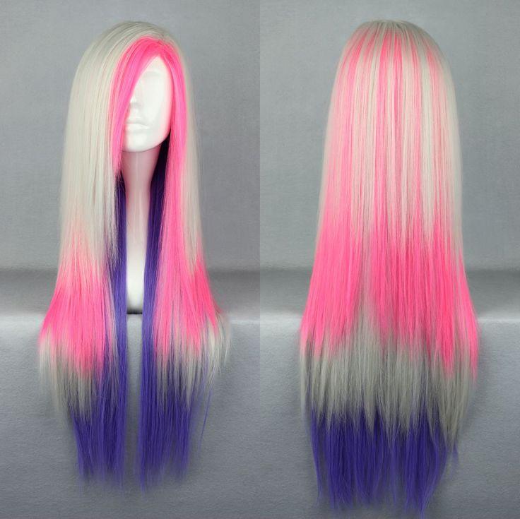 80 cm X Long Charm Lolita couleurs mélangées perruque Anime Cosplay COS 286B dans Blended Hair Wigs de Health & Beauty sur AliExpress.com | Alibaba Group