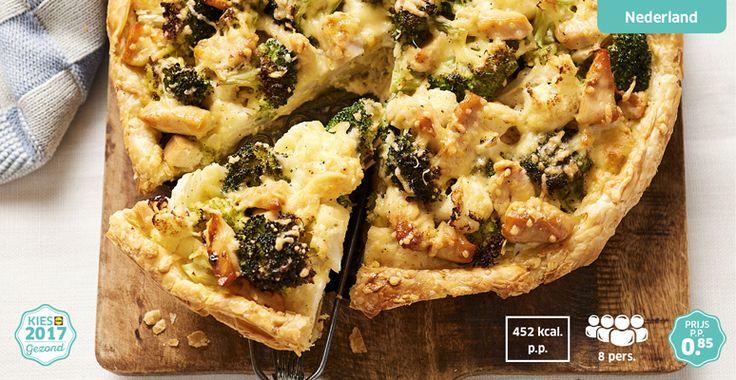 Hartige taart van bloemkool en broccoli  #lekkerLidl #Kiesgezond #Lidl
