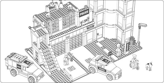 lego fire station coloring pages - photo#16