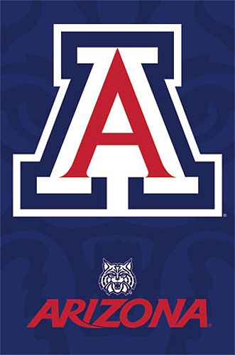 Arizona Wildcats Official NCAA Team Logo Poster -available at www.sportsposterwarehouse.com