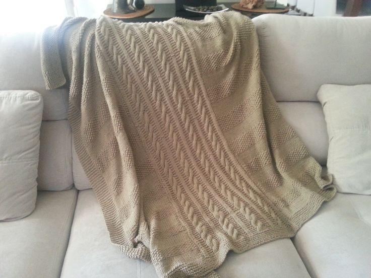 Manta de algodón hecha por Nuria Torregrosa