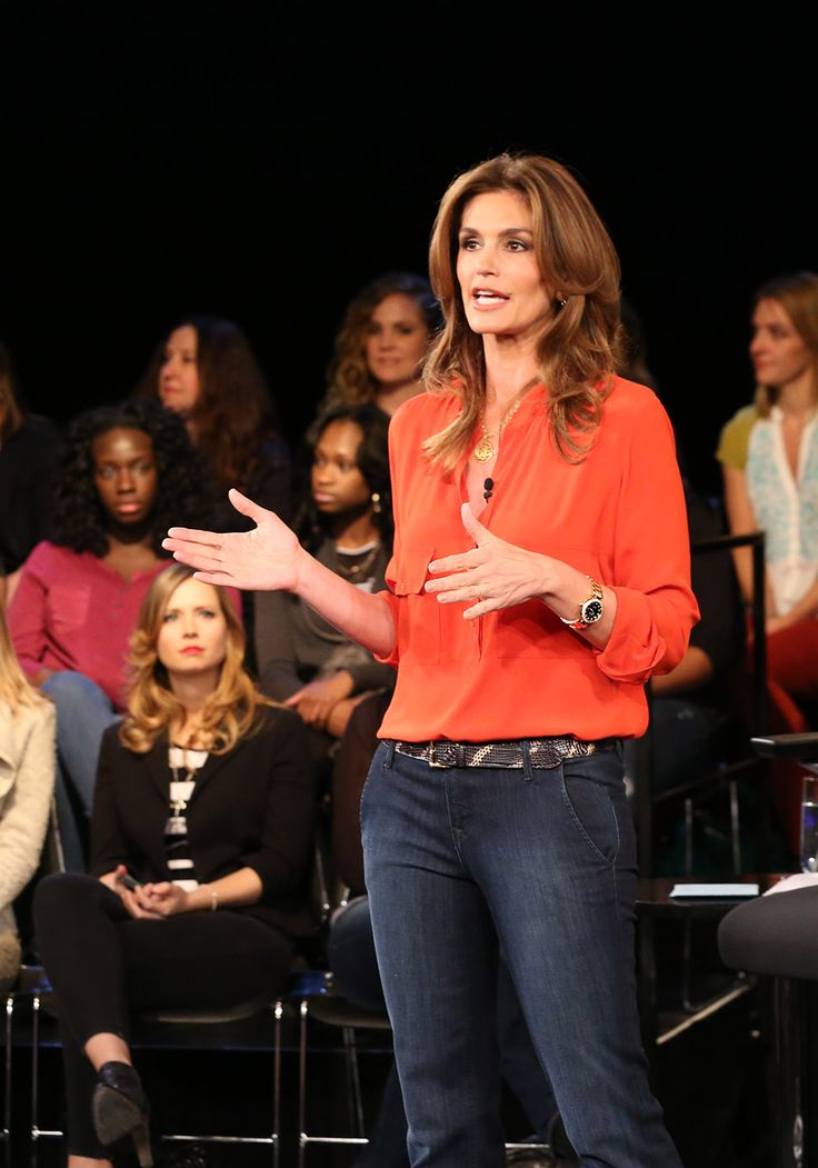 Cindy Crawford. I won't hold her claim to fame as supermodel against her. Can't be mad at that! She's sharp.