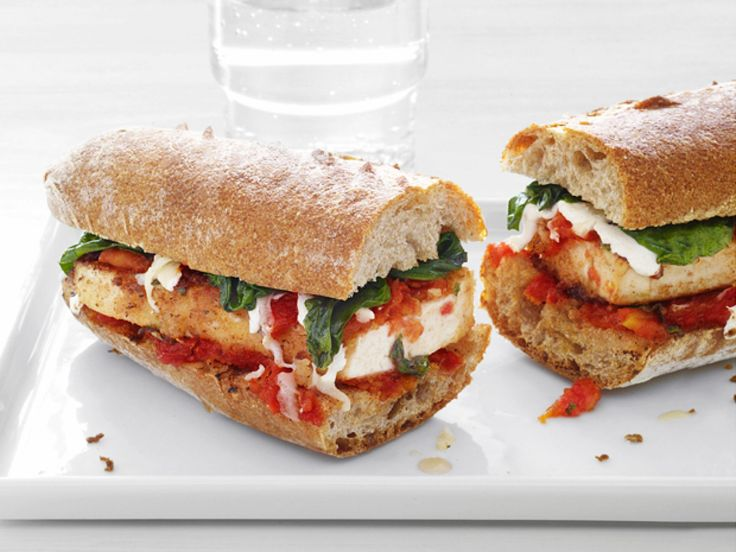 Tofu Parmesan Subs : Food Network Kitchen found that tofu is an excellent substitute for chicken or eggplant in the classic Parmesan sub. The chefs lightened it up a bit with part-skim mozzarella.