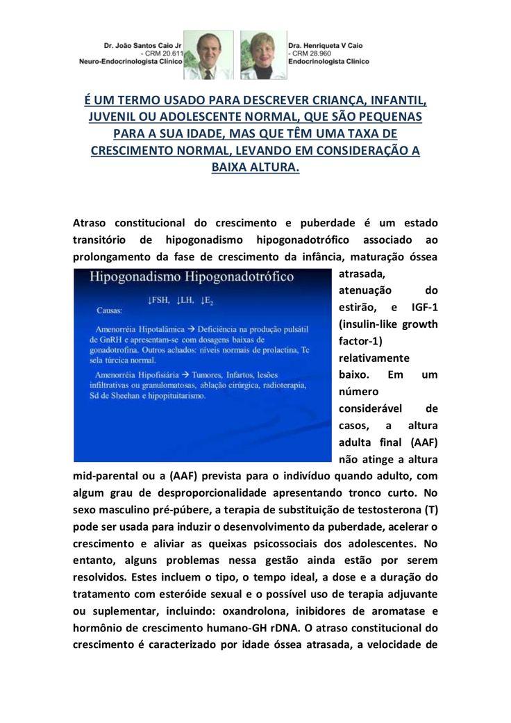 SINTOMAS DA BAIXA ESTATURA EM CRIANÇA, INFANTIL E JUVENIL