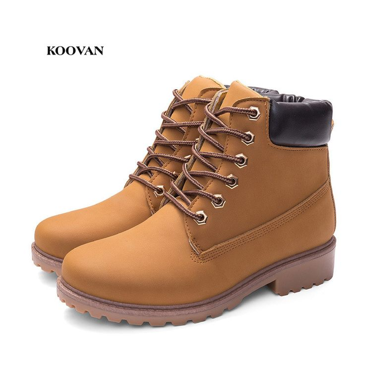 Koovan Women Martin Boots 2017 Autumn And Winter Large Size 36 41