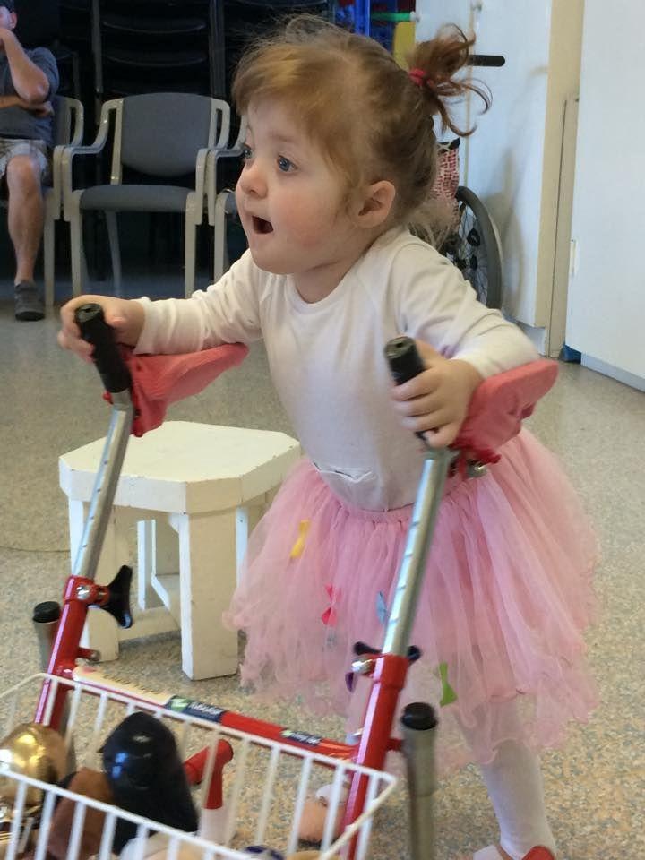 Miss Eliza getting prepared for ballet class in her Tummy Wonsie! #wonsie #tubie #feedingtube #ballet