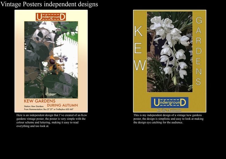 A1 Graphics, Vintage Kew Garden posters designs