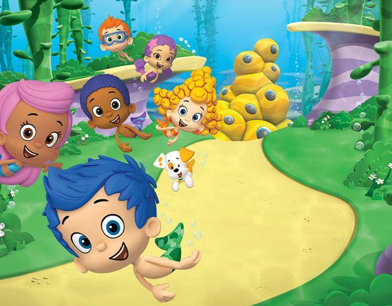 Bubble Guppies cake topper edible by BakingDiva2 on Etsy