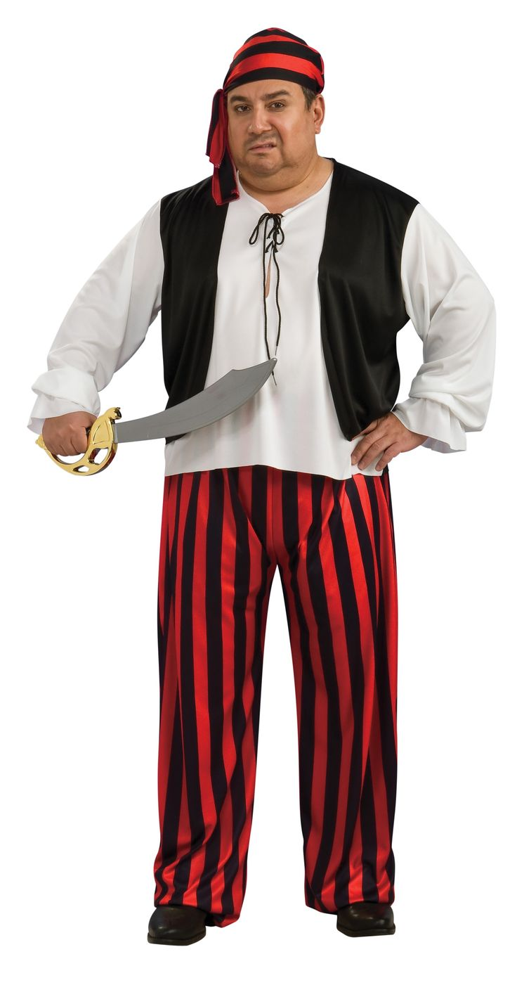 Full Cut Pirate Shirt, pants & sash. Sword Sold Seperately