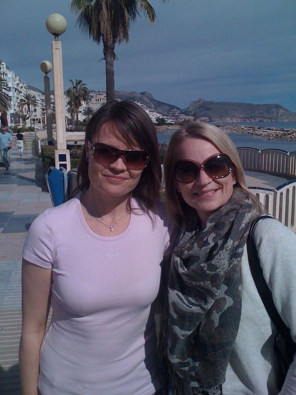 My sister and I in Altea in February 2011 :)