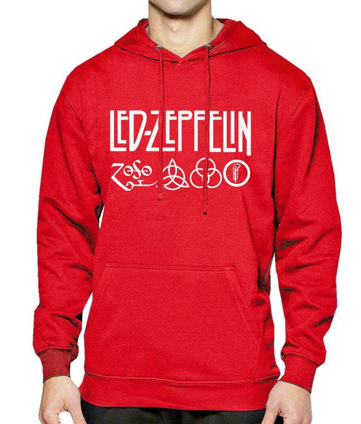 2017 Hoody Men Sweatshirts Brand-Clothing Print Led Zeppelin Rock Zoso Streetwear Men's Sportswear Crossfit Mens Hoodies Hip Hop #Affiliate