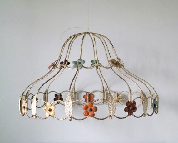 87 best coloured lamp flex images on pinterest light fixtures love this vintage tole work metal cage lamp shade keyboard keysfo Gallery