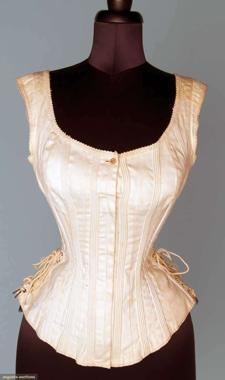 SIDE LACING SPORTS' CORSET, 1875-1885 Corset is corded, not boned so it has more flexibility.
