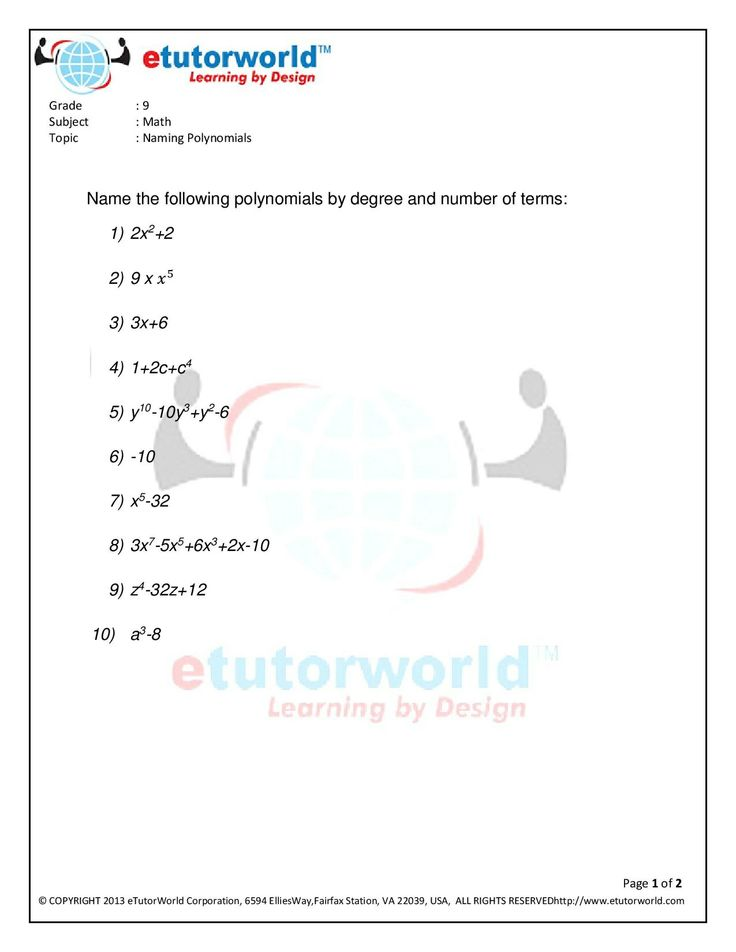 an examination of polynomials and its role in mathematics Mathematics stack exchange is a question and answer site for people studying math at any (x)$ is a primitive polynomial now the polynomial from my exam.