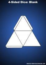 four sided dice blank