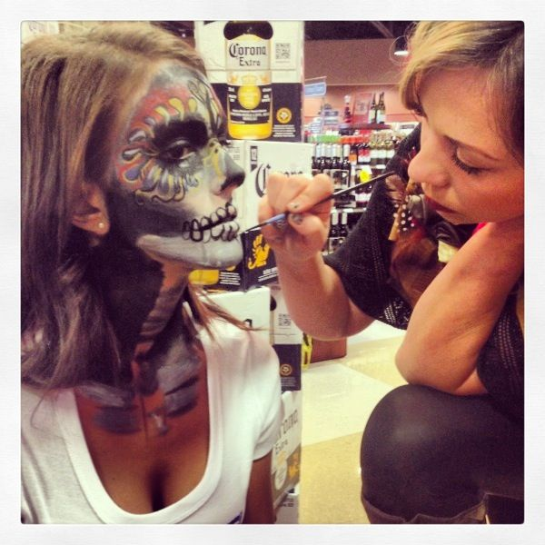 Promotional face painting-special effects for Corona! Book yours 6049996177