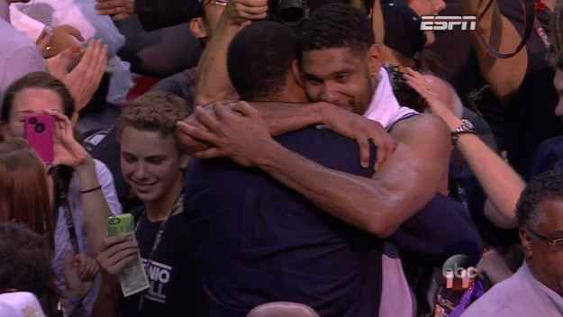 When Tim Duncan hugged David Robinson. | The Best Moments From The San Antonio Spurs NBA Championship