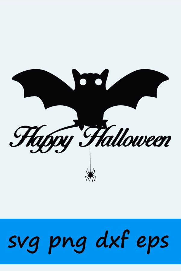 Happy Halloween SVG, EPS  Vector Clipart Digital Silhouette
