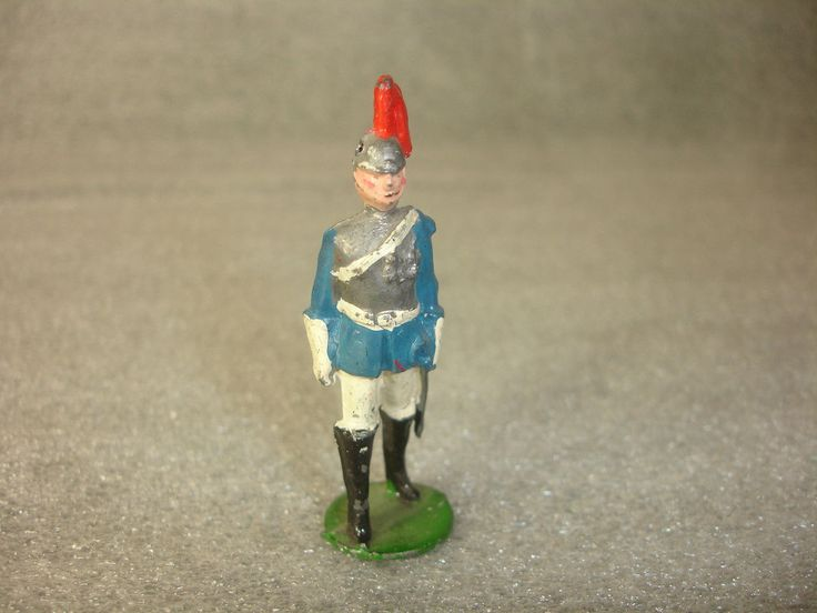 Old Vtg Antique Collectible Britains Toy Soldier Made In England  Buy it now $24.95, postage $14.95   [No markings under base; it's actually by John Hill Co.]