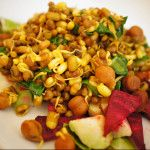 Sprouted Beans and Lentils with Roasted Brussel Sprouts and Beetroot