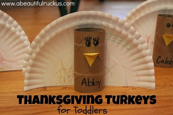 Easy Thanksgiving Turkey Craft for Toddlers