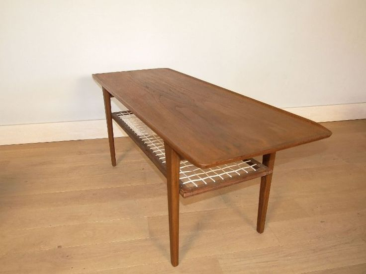 Table basse vintage fly for Table basse double plateau scandinave