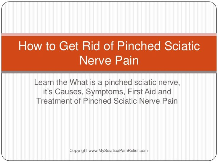 How to Get Rid of Pinched Sciatic Nerve Pain & Get Relief From Scia...