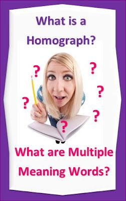 #Homographs and Multi-meaning Words - Printables $ #ela #elem #vocabulary
