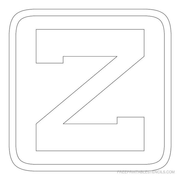 Best Letter Stencils Images On   Alphabet Stencils