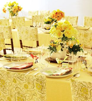 Chic and Sunny Wedding Style - Cheerful prints, bold hues, and handmade details define the look. - Wedding Style