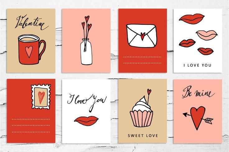 Funny printable Valentine card  for free download. February blog freebie. #love #freebie #illustration #valentine  #printable #card