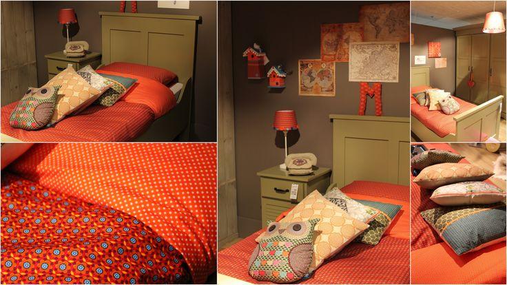 Vintage orange collectie van MOEPA @Goossenswonen. Kinderkamer in retro stijl