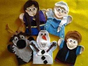 Frozen Felt Hand Puppets