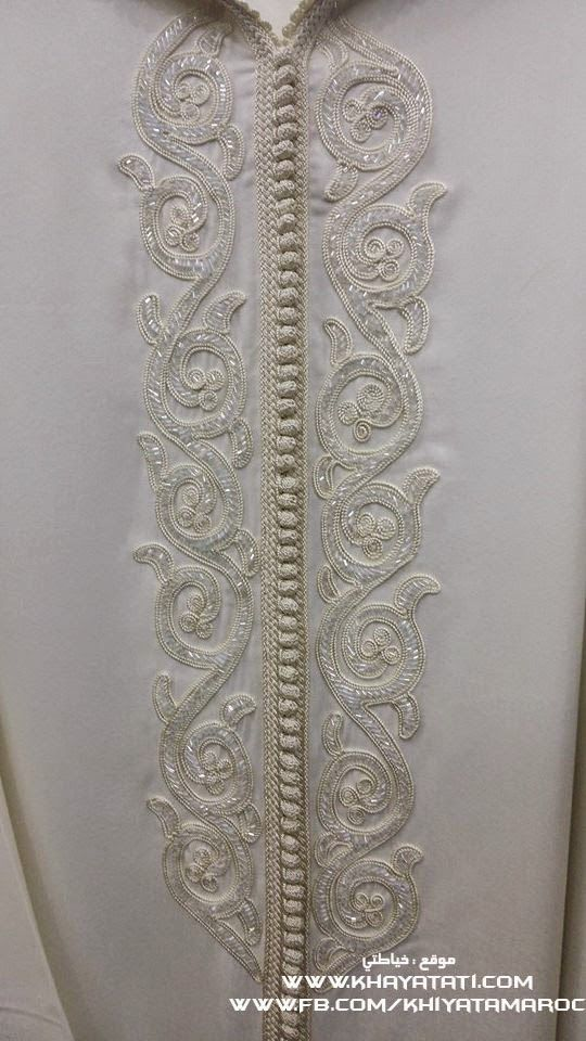Jellaba Embroidery Detail