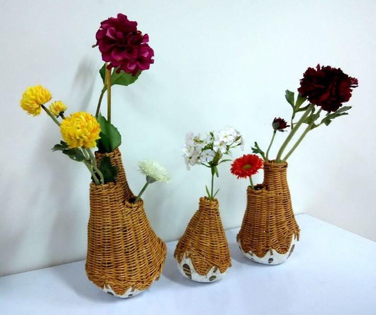Ceramic Basket Vase by Rafael Trihardy