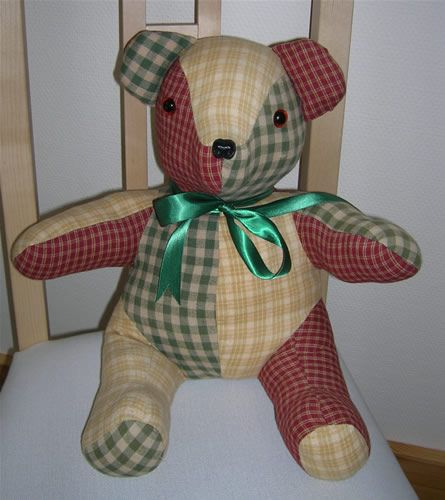 Teddy Bear Patterns Free | patchwork teddy bear a lovely teddy bear which makes a delightful gift ...