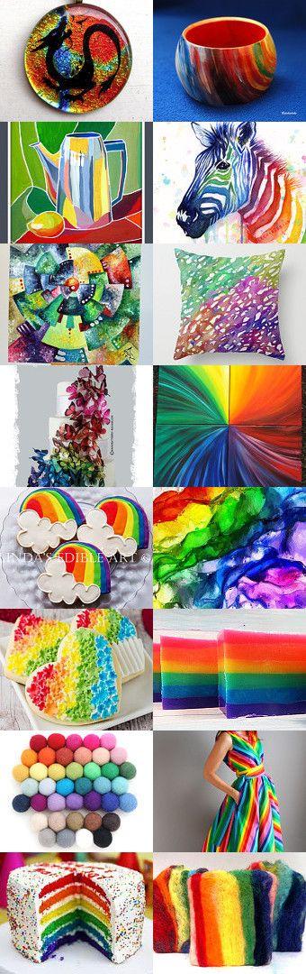 Rainbow life by Julia Kotré on Etsy--Pinned with TreasuryPin.com