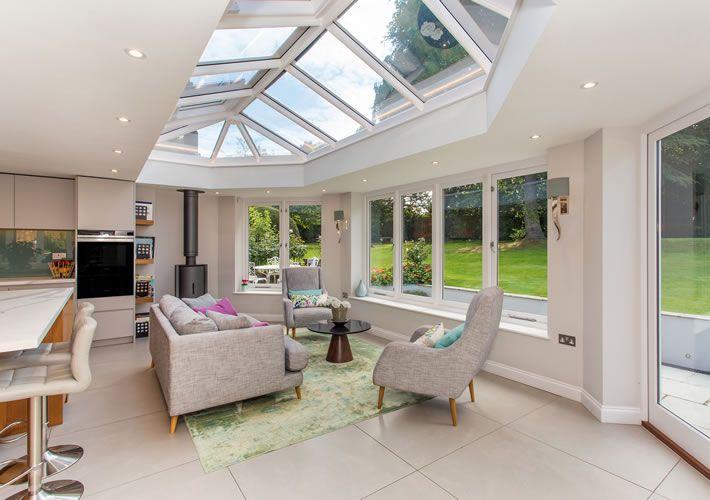 Kitchen room extension Orangery in Esher, Surrey