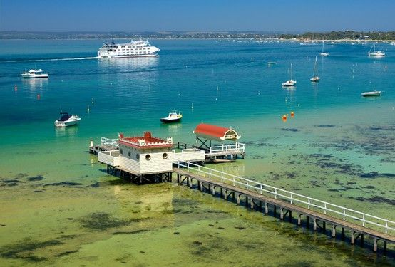 Queenscliff-Sorrento Ferry, Sorrento, Mornington Peninsula, Victoria, Australia.