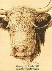 Wood Burning Animal Fur and Hair... cow pattern animal fur textures pyrography basics
