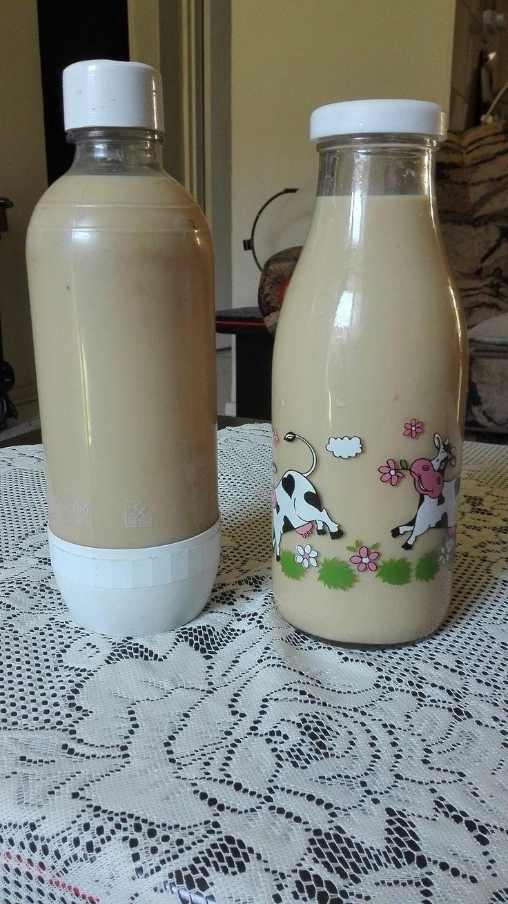 Klaar my tuisgemaakte amarula gemaak.  1 x  litre melk 1   x litre ultramel custard in die boksie 4 eetlepels ricoffee 200 ml smirnoff. vodca  verhit melk en koffie saam. laat af koel meng ultramel en smirnoff by, meng alles goed saam