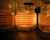 I love this idea, and the candles could even be personalized with our favorite quotes and sayings.