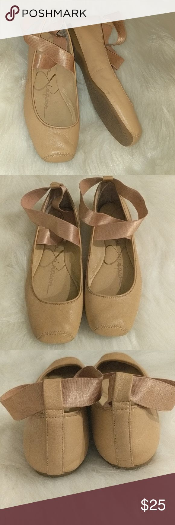 Jessica Simpson ballet flats in nude blush Basket flats with ankle strap Jessica Simpson Shoes Flats & Loafers