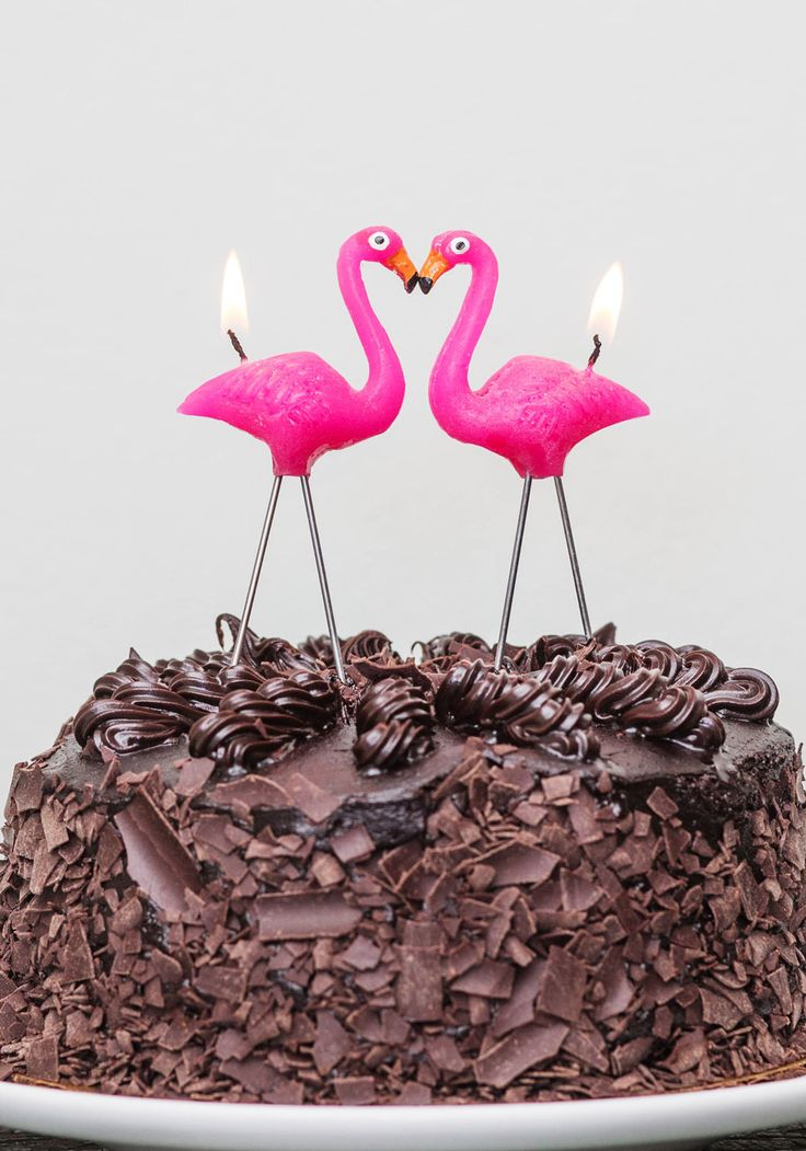 Light of Fancy Candle Set. Your pal will be downright flap-happy, when you illuminate these flamingo candles atop her birthday cake! #pink #modcloth